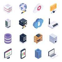 big data et organisation des données vecteur