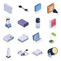 éléments de gadgets électriques vecteur