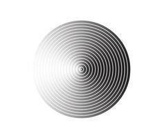 élément de cercle concentrique. anneau de couleur noir et blanc. illustration vectorielle abstraite pour onde sonore, graphique monochrome. vecteur