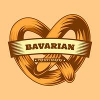 De délicieux vecteurs d'aliments bavarois vecteur