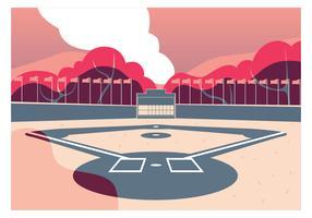 conception de vecteur de parc de baseball