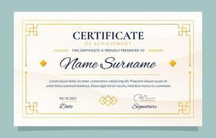 modèle de conception de certificat de réussite vecteur