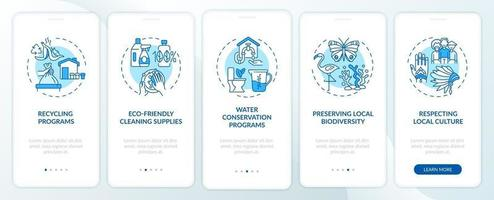 hôtel vert propose un écran de page d'application mobile d'intégration avec des concepts vecteur