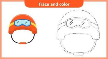 casque trace et couleur vecteur