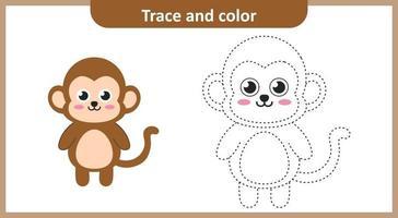 trace et couleur de singe vecteur
