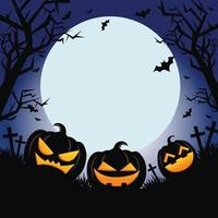 illustration de citrouille mignonne de joyeux halloween vecteur