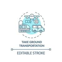 prendre l & # 39; icône de concept de transport terrestre vecteur