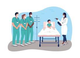 Bannière web vecteur stage médical 2d, affiche