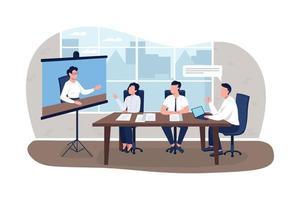 planification des affaires bannière web vecteur 2d, affiche