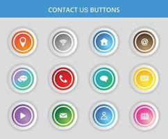 contactez-nous boutons et conception d'icônes. vecteur