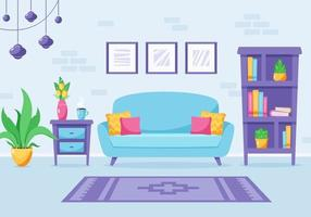 design d'intérieur de salon moderne. appartement loft. illustration vectorielle vecteur