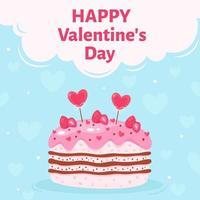 gâteau de la Saint-Valentin. doux cadeau. illustration vectorielle vecteur