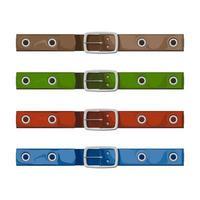 ceintures colorées - illustration vectorielle sur fond blanc. vecteur