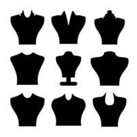 collier de bijoux noirs pack de vecteur de bijoux