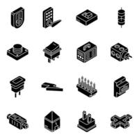 jeu d & # 39; icônes isométrique de dispositifs électroniques modernes vecteur