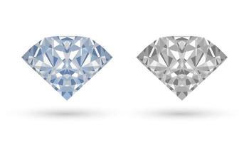 vrai vecteur de diamant sur fond blanc