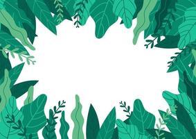 plantes vertes et fond de feuilles avec espace de copie pour le texte. vecteur