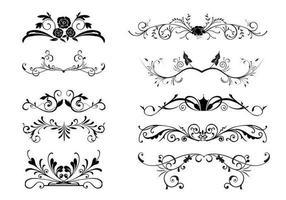 10 vecteurs de bordure ornementaux floraux vecteur