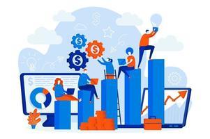 concept web de possibilités de carrière avec des gens vecteur