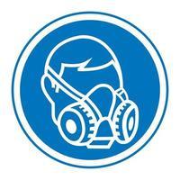symbole porter signe de respirateur vecteur