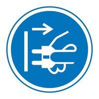 débrancher la fiche du symbole de la prise électrique vecteur