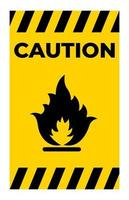 Méfiez-vous du symbole de gaz inflammable isoler sur fond blanc vecteur