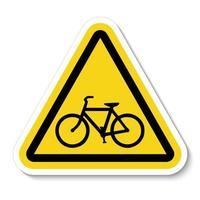 panneau d'avertissement de circulation à vélo vecteur