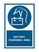 signe de symbole de la zone de charge de la batterie vecteur