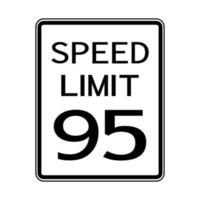 USA route trafic transport signe limite de vitesse 95 vecteur