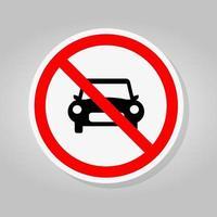 interdire la circulation des voitures panneau de signalisation vecteur