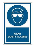porter des verres de sécurité vecteur