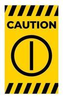 Attention sur le signe de symbole de bouton poussoir vecteur