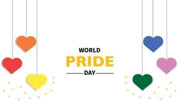 vecteur de coeur de la journée de la fierté mondiale