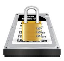 le disque dur interne avec un verrou principal protège les données vecteur