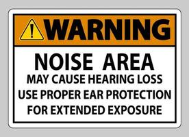 la zone de bruit de signe de ppe d'avertissement peut causer la perte d'audition utiliser une protection auditive appropriée pour une exposition prolongée vecteur
