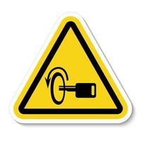 éteindre le signe du symbole du moteur vecteur