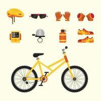ensemble d & # 39; icônes de vélo vecteur