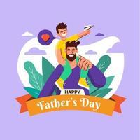 conception de la fête des pères vecteur