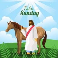 joyeux dimanche des palmiers vecteur