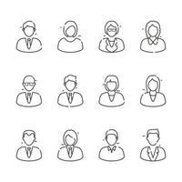 icône d & # 39; avatar de personnes vecteur