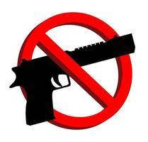 Aucune arme autorisée signe d'interdiction vecteur