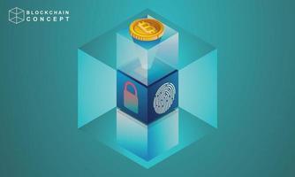 concept d'analyse des données de la technologie blockchain pour les investisseurs vecteur
