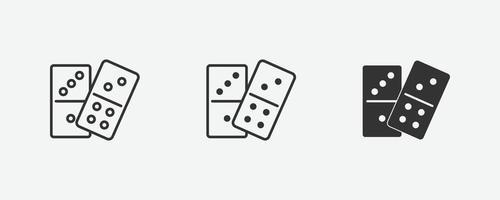 icône isolé de vecteur domino. amusement, jeu, symbole d'activité sig