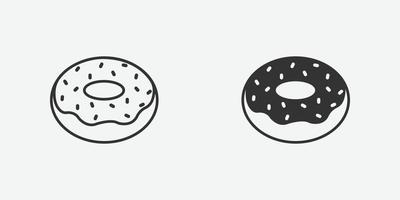 illustration vectorielle de délicieux beignet sucré vecteur