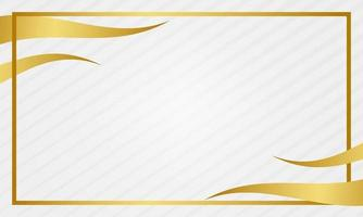 fond de cadre abstrait or blanc vecteur