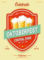 Vecteur Flyer d'Oktoberfest