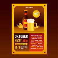 Modèle de Flyer de l'Oktoberfest vecteur