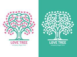 Éléments uniques de logo d'arbre