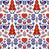 Scandinave Folk Pattern Vectorielle continue vecteur