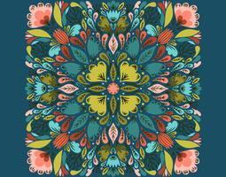 motif floral symétrique vecteur